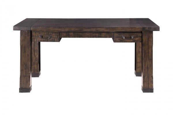 Pine Hill Transitional Rustic Pine Wood Writing Desk MG-H3561-01