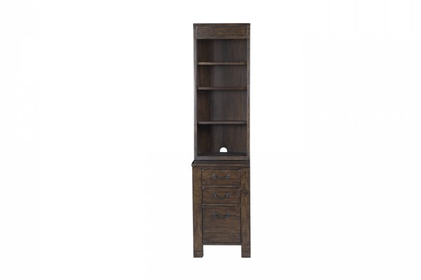 Pine Hill Transitional Rustic Pine Wood Bunching Cabinet Bookcase Base MG-H3561-24B