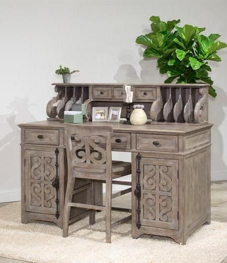 Magnussen Home Tinley Park Wood Office Desk and Chair Set MG-H4646-HOF-S2