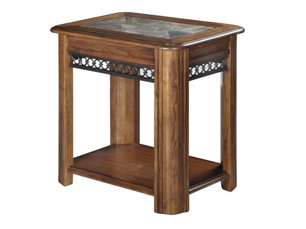 Magnussen Home Madison Brown Sliding Top Chairside Table MG-T1125-10