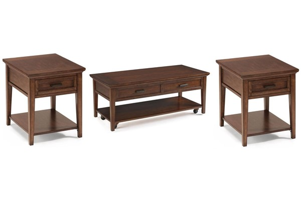 Harbor Bay Traditional Toffee Wood 3pc Starter Coffee Table Set MG-T1392-S
