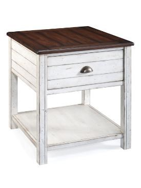 Bellhaven Casual Alabaster Wood Rectangular End Table MG-T1556-03