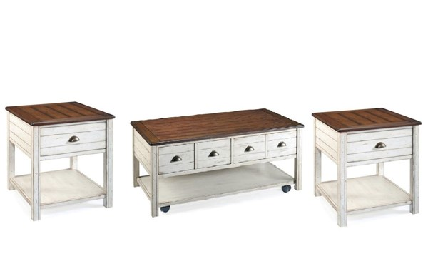 Bellhaven Casual Alabaster Wood Coffee Table Set MG-T1556