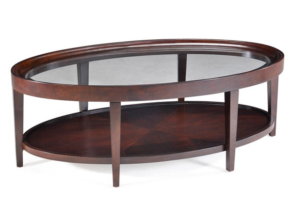 Magnussen Home Carson Sienna Oval Cocktail Table MG-T1632-47