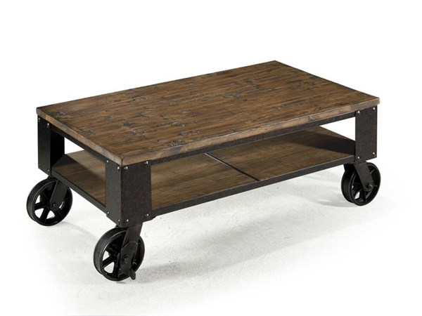 Magnussen Home Pinebrook Wood Rectangular Starter Cocktail Table MG-T1755-44