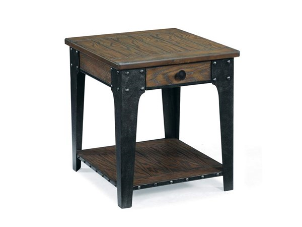 Lakehurst Casual Natural Wood Rectangular End Table MG-T1806-03