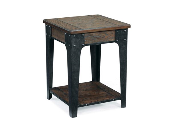 Lakehurst Casual Natural Wood Square Accent Table MG-T1806-33