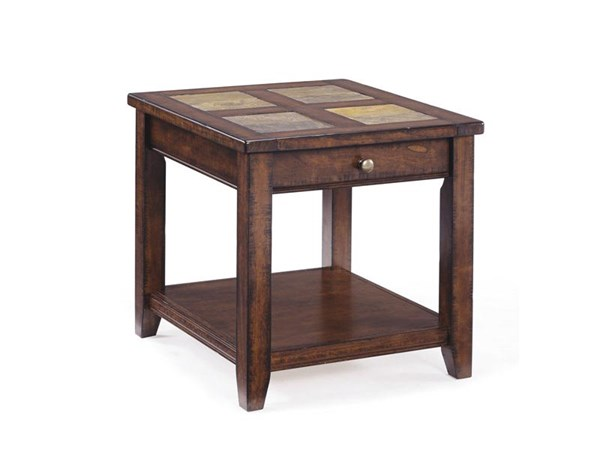 Allister Casual Cinnamon Wood Rectangular End Table MG-T1810-03