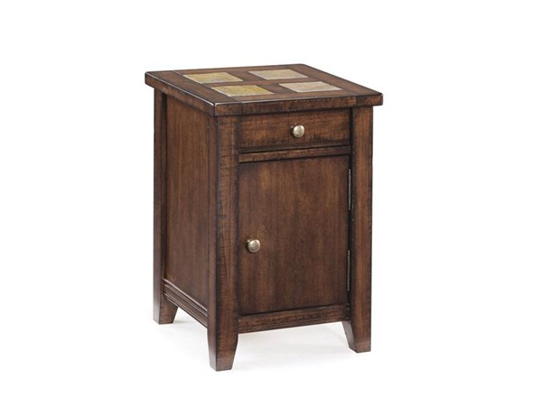 Allister Casual Cinnamon Wood Square Accent Table MG-T1810-33
