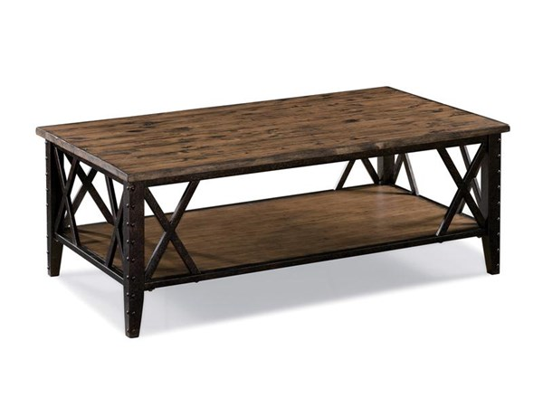 Magnussen Home Fleming Rustic Pine Rectangular Cocktail Table MG-T1908-43