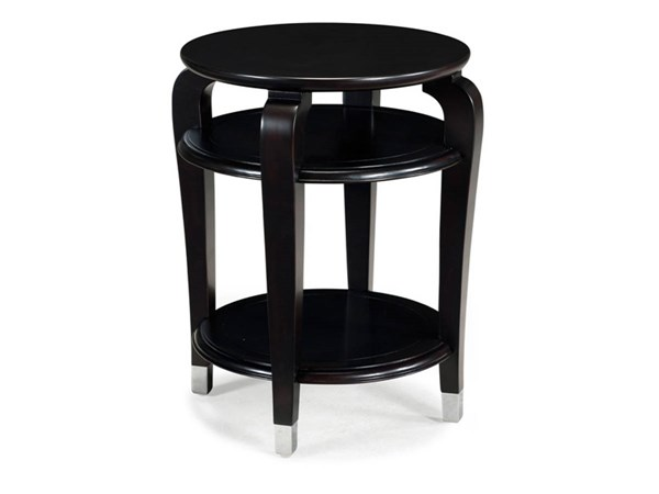 Harper Traditional Ebony Wood Round Accent Table MG-T1946-35
