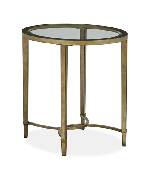 Magnussen Home Copia Silver Oval End Table MG-T2114-07
