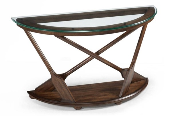 Beaufort Coastal/Cottage Dark Oak Wood Demi Sofa Table Base MG-T2214-75B
