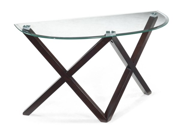 Visio Modern Merlot Wood Demi Sofa Table Base MG-T2282-75B