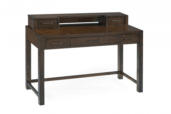 Cavelle Modern Dark Chestnut Wood Sofa Desk Table MG-T2357-90