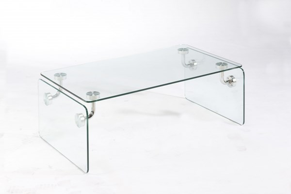 Clarion 10mm Clear Tempered Glass Rectangular Cocktail Table MG-T2457-43