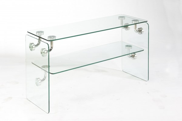 Clarion Glass Metal Rectangle Sofa Table MG-T2457-73