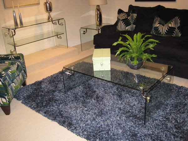 Clarion Standard Glass Metal Coffee Table Set MG-T2457