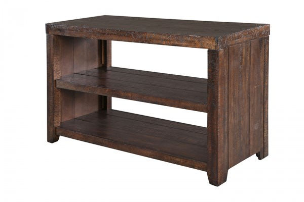 Caitlyn Transitional Distressed Natural Wood Rectangular Sofa Table MG-T2528-73