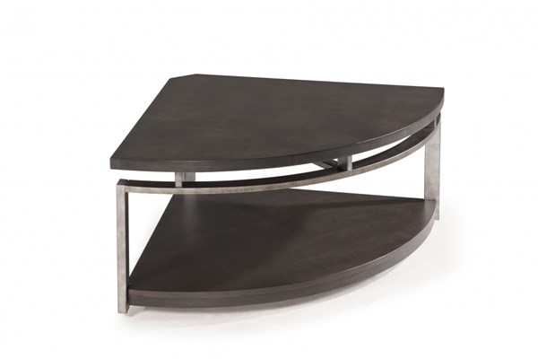 Magnussen Home Alton Metal Pie-Shaped Cocktail Table MG-T2535-65
