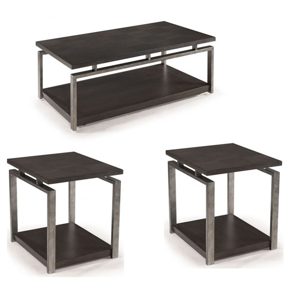 Magnussen Home Alton 3pc Coffee Table Set with Rectangular Table MG-T2535-OCT-S1