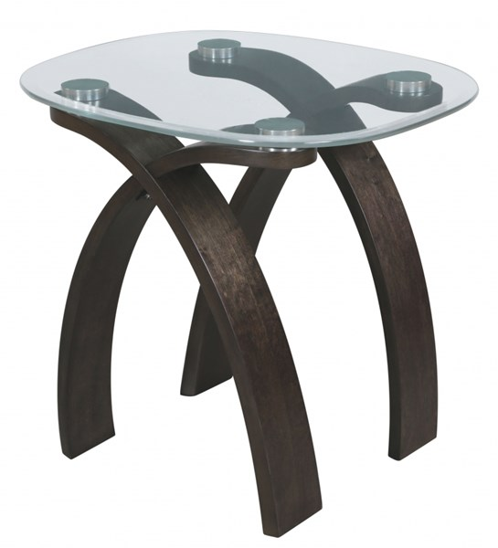 Forum Modern Platinum Glass Oval End Table Top MG-T2545-07T