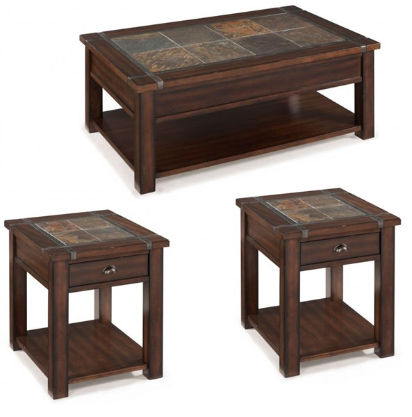Magnussen Home Roanoke Cherry 3pc Coffee Table Set The Classy Home