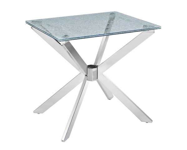 Quazar Modern Glass Rectangular End Table Top MG-T2780-03T