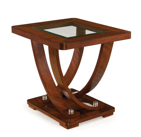 Magnussen Home Pavilion Medium Brown Rectangular End Table MG-T2908-03