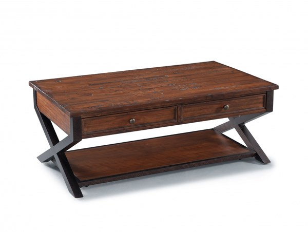Lucerne Transitional Cinnamon Wood Rectangular Cocktail Table MG-T2981-43