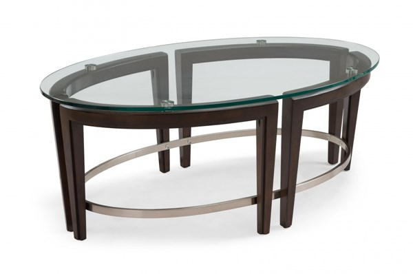 Carmen Modern Glass Oval Cocktail Table Top MG-T3110-47T