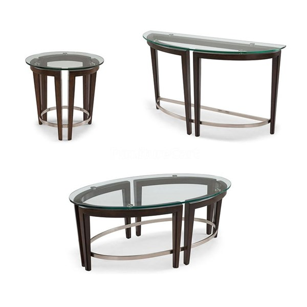 Sheffield Antique Black Wood Rectangular 3pc Coffee Table Set MG-T3110