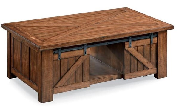 Magnussen Home Harper Farm Wood Rectangular Cocktail Table MG-T3269-50