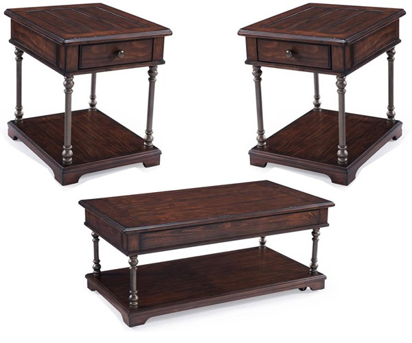 Butler Tobacco Wood 3pc Coffee Table Set w/Lift-Top Cocktail Table MG-T3492-OCT-S2