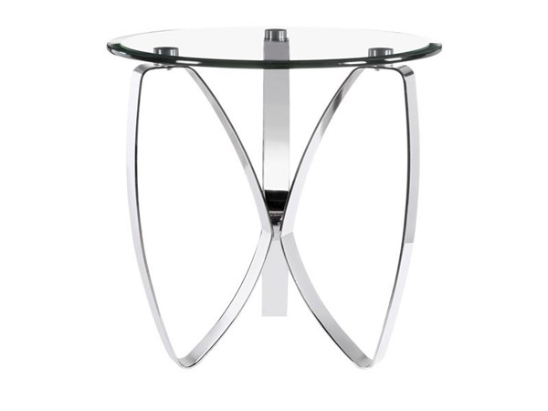 Nico Modern Chrome Metal Chromed Plated Round End Table Base MG-T3507-05B