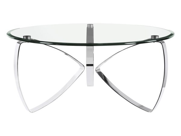 Nico Modern Chrome Glass Round Cocktail Table Top MG-T3507-45T