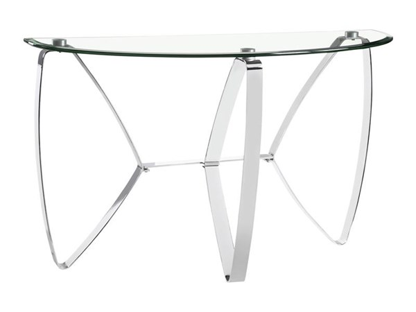 Nico Modern Chrome Metal Chromed Plated Demilune Sofa Table Base MG-T3507-75B