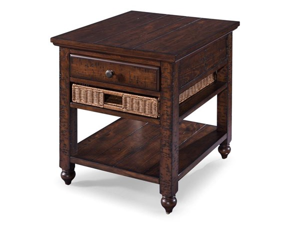 Cottage Lane Coffee Wood Wood Rectangular End Table MG-T3521-03