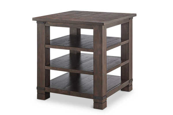 Magnussen Home Pine Hill Wood Square End Table MG-T3561-01