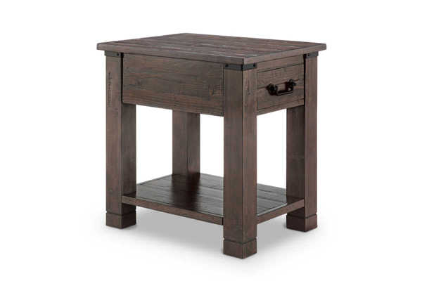 Magnussen Home Pine Hill Wood Rectangular End Table MG-T3561-03