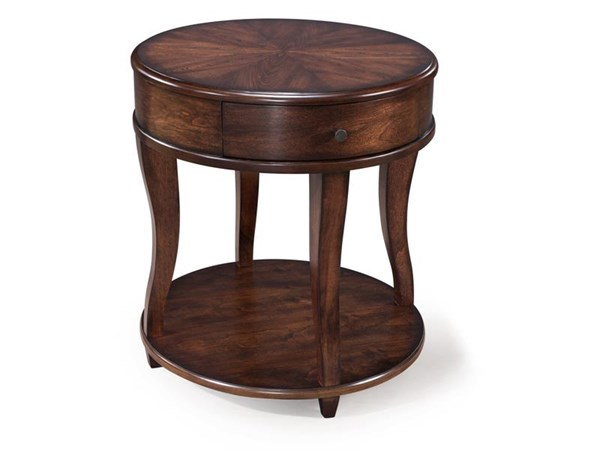 Madelyn Transitional Coffee MDF Wood Oval End Table MG-T3607-07