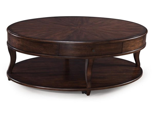 Madelyn Transitional Coffee MDF Wood Oval Casters Cocktail Table MG-T3607-47