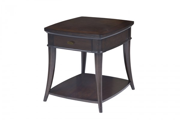 Avon Transitional Dark Cherry Wood Rectangular End Table MG-T3645-03