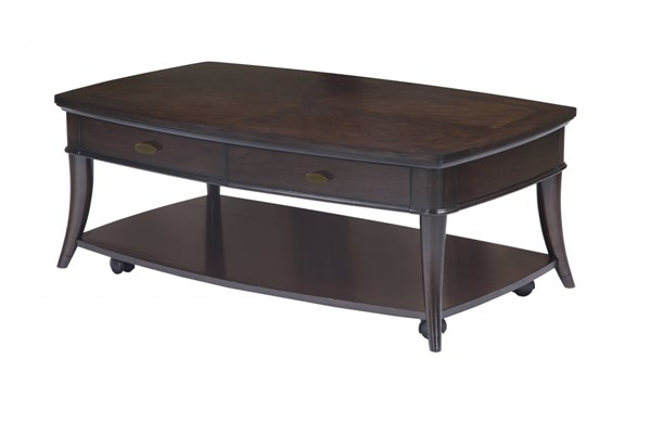 Avon Transitional Dark Cherry Wood Rectangular Casters Cocktail Table MG-T3645-43