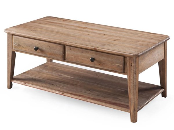 Baytowne Coastal/Cottage Barley Wood Rectangular Condo Cocktail Table MG-T3749-44