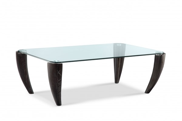 Ebony Modern Midnight Glass Rectangular Cocktail Table Top MG-T3766-43T