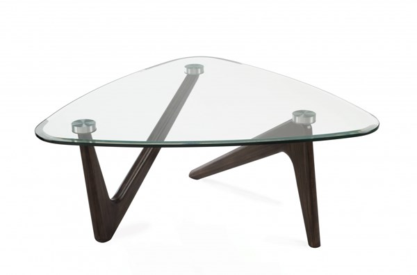 Garvin Modern Nutmeg Grey Glass Shaped Cocktail Table Top MG-T3767-65T