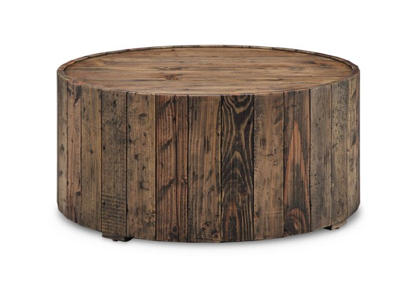 Magnussen Home Dakota Rustic Pine Round Cocktail Table MG-T4017-45