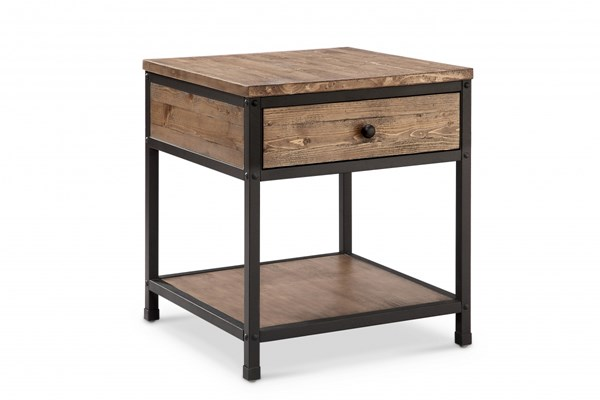 Magnussen Home Maguire Weathered Barley End Table MG-T4039-01