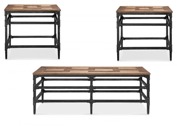 Dylan Metal MDF 3pc Coffee Table Set w/Rectangular Cocktail Table MG-T4041-OCT-S2